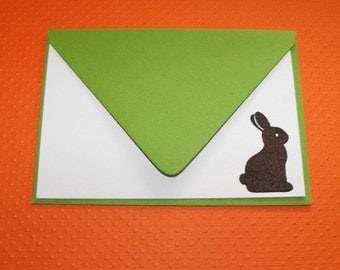 Chocolate bunny Easter noteset