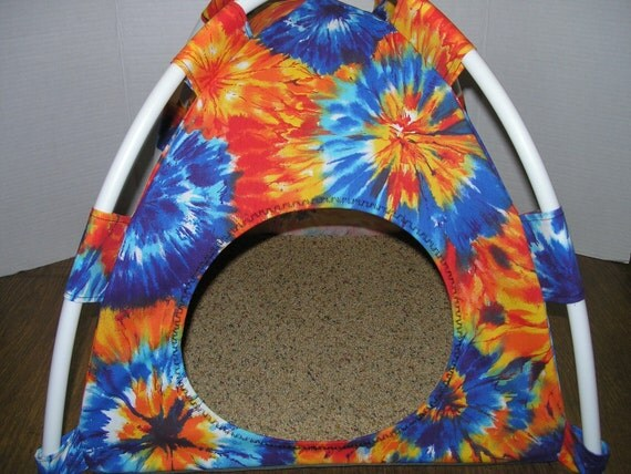 Large Pup Tent Pet Bed ( see multiple fabric choices #2 )  For Cats/Dogs/Ferrets/Piggies Or Used for a Toy Box/Barbie Doll House