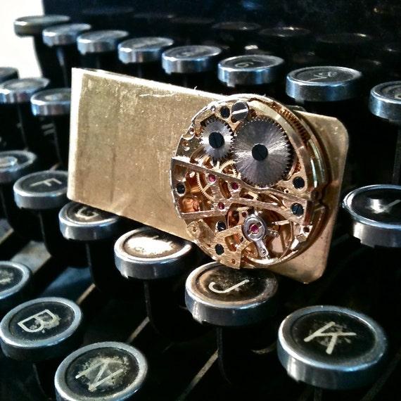 Steampunk money clip- Brass