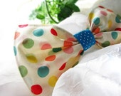 Dipping Dots Multi-Colored Custom Boutique Fabric Hair Bow