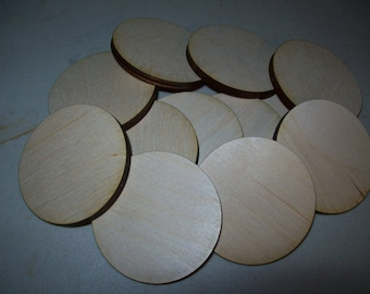 Unfinished Wooden Circles 5.125 inch 5.2mm thick  diameter Pack of 10