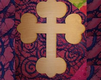 Unfinished Wood Cross style FDL FAT  - 15''