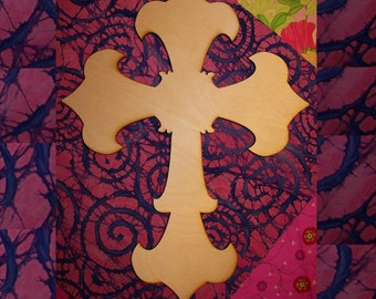 Unfinished Wood Cross style Flange  - 15''