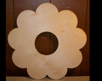 Unfinished wood wooden WREATH shape style 1 - 11.5'' x 11.5""
