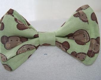 Boys Bow Tie - Monkey Bow Tie -  Bowtie - Toddler Bow Tie -  Bow Tie Toddler - Newborn Bow Tie - Mens Bow Tie - Monkey Tie - Green Bow Tie