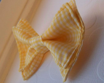 Yellow Gingham Bow Tie -Toddler Bow Tie - Bow Tie - Bowtie -  Bow Tie Toddler - Mens Bow Tie - Newborn Bow Tie - Boys Bow Tie - Yellow Tie