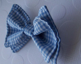 Blue Gingham Bow Tie - Bow Ties Toddler -  Boys Bow Tie - Blue Bow Tie - Summer Bow Tie - Spring Bow Tie - Gingham Tie - Blue Tie