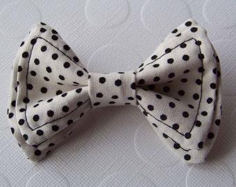 White spotted Black Bow Tie - Toddler Bow tie - Boys Bow Tie - Bow Tie- Bowtie - Mens Bow Tie - Baby Bow Tie - Newborn Bow Tie - Black Tie