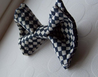 Boys Bow Tie - Navy and White Bow Tie - Toddler Bow Tie - Checkered Bow Tie - Navy Bow Tie - Navy Checked Bow Tie - Checkered Tie