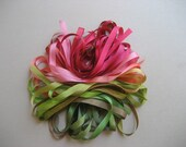 Rose Garden mix - 10 metres of 7mm silk ribbon