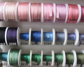 Your choice - 20 metres of 7mm solid colour silk ribbon