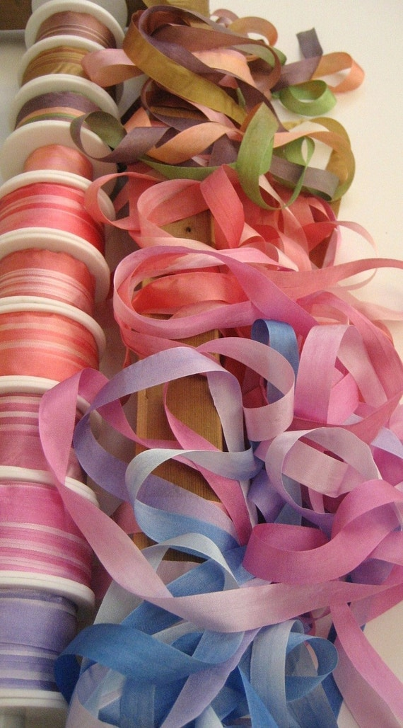 Your choice - 6 metres of 13mm variegated silk ribbon