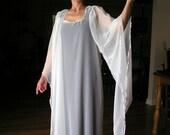 Ritual Robe White Sheer on Black