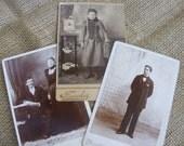 Set of three vintage cabinet cards