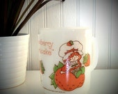 Strawberry Shortcake Anchor Hocking milk glass mug