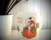 Strawberry Shortcake Anchor Hocking milk glass mug
