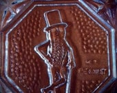 Vintage Crystal Mr. Peanut dish