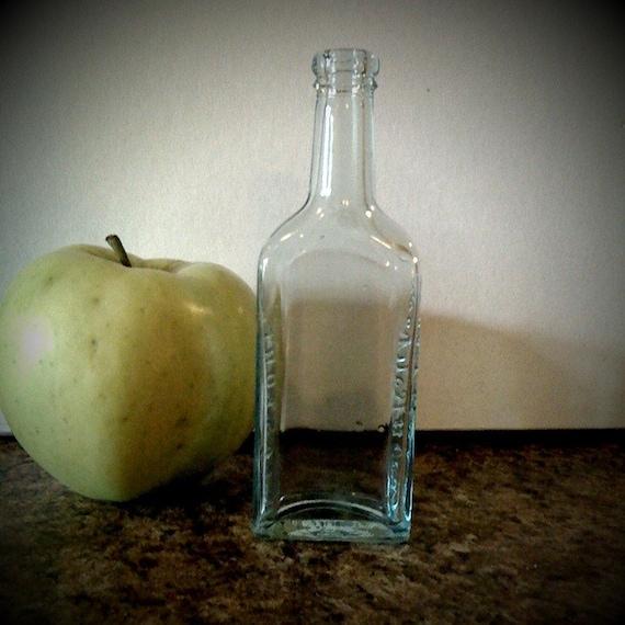 Fletcher S Castoria: Antique Fletchers Castoria Aqua-colored Glass Bottle By