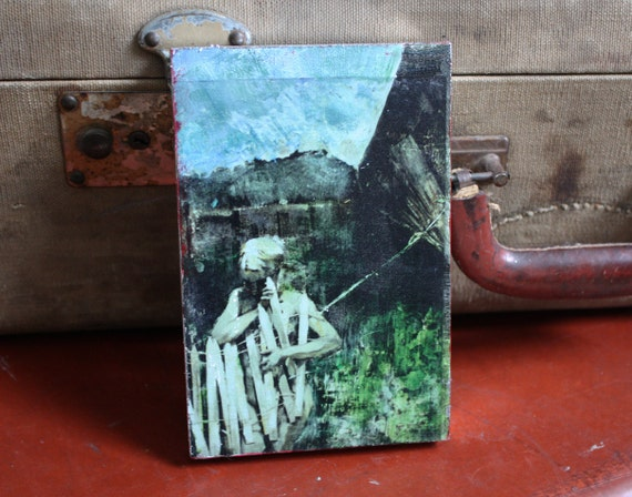 Our Prisons are Self Made - An Original 4 x 6 Mixed Media Mini