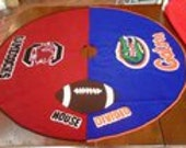 House Divided Christmas Tree Skirt