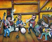 When I Paint My Masterpiece The Band & Bob Dylan: LIMITED EDITION Stretched Canvas by NYC's J. Gluskin