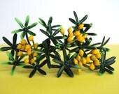 Forsythia Cupcake topper Picks for Decorating (12)