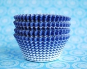 Blue Horizon Lines Cupcake Liners or Muffin cups (50)