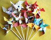 Heat Wave Pinwheels for Cupcakes (12)