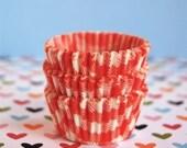 Mini Cupcake Liners 50 Orange Picnic Baking Cups