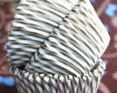 Gold and White striped Cupcake Liners (50)
