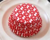 Red Pinwheel Cupcake Liners (50)
