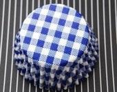 Blue Picnic Cupcake LIners (50)