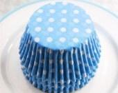 Light Blue Polka Dot Cupcake Liners (50)