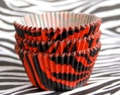 JUMBO Red Tiger Stripes Cupcake Liners (24)