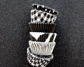 Mini Cupcake Liners 60 Assorted Black Baking cups