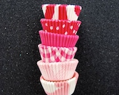 Mini Cupcake Liners 60 Assorted Pink Baking cups