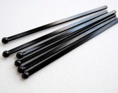 BULK 100 Black Swizzle Sticks and and PDF Printable Party Flags