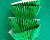 Grass Green Fancy Foil Cupcake Liners (50)
