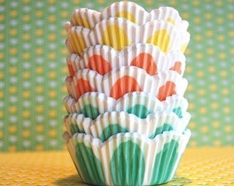 Assorted Pretty Pastel Tulip Cupcake Liners (45)