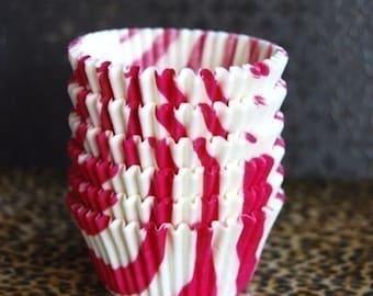 Fuschia Zebra Print  Cupcake Liners (45)