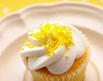 Yellow NonPareils Sprinkles for Cupcakes or Cookies (4 ounces)