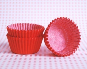 MINI Orange Cupcake liners or Candy Cups (50)
