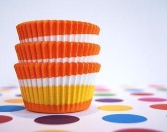 Orange Swirl Cupcake or Muffin liners (50)