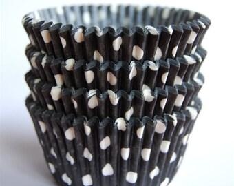 Black Polka Dot Cupcake Liners (50)