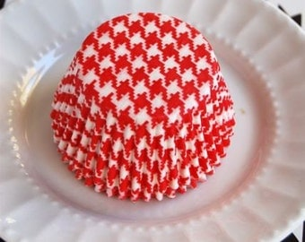 Red Houndstooth Cupcake Liners (50)