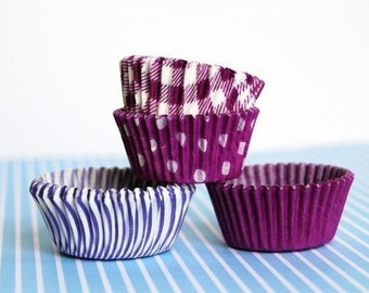 Mini Cupcake Liners 40 Assorted Purple