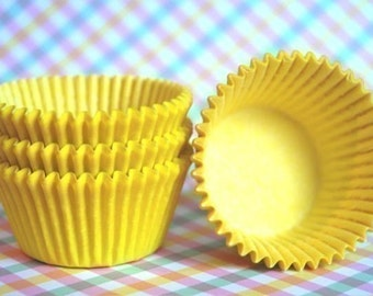Cupcake Liners 50 Solid Yellow