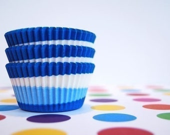 Blue Swirl Cupcake or Muffin liners (50)