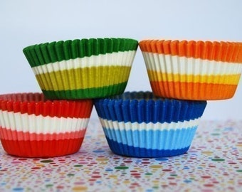 Assorted Swirl Cupcake Liners set 2 (40)