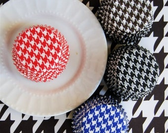 Assorted Houndstooth Cupcake Liners (40)